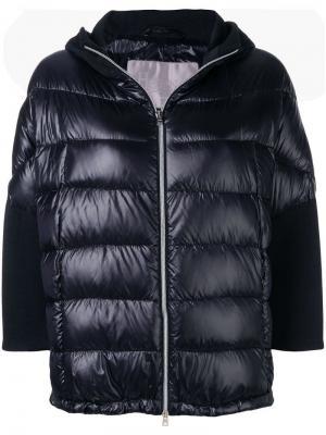 Дутая куртка-бомбер Herno. Цвет: черный