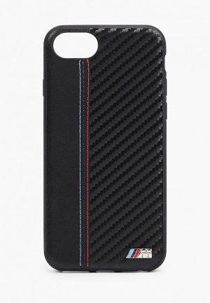Чехол для iPhone BMW 8 / SE 2020, Smooth/Carbon effect PU Black. Цвет: черный