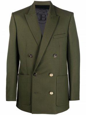 Double-breasted blazer Balmain. Цвет: зеленый
