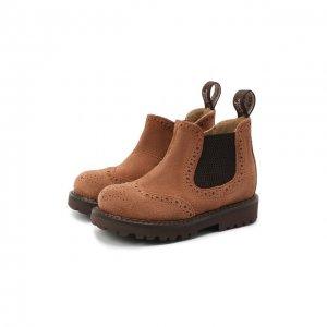 Замшевые ботинки Jarrett. Цвет: коричневый