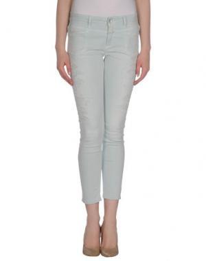 Джинсовые брюки-капри CLOSED. Цвет: небесно-голубой