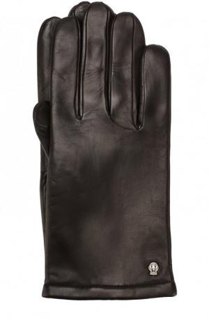 Кожаные перчатки с кашемировой подкладкой Roeckl. Цвет: темно-коричневый
