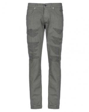 Повседневные брюки 2 MEN. Цвет: зеленый-милитари