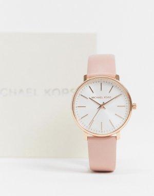 Часы с розовым кожаным ремешком MK2741 Pyper-Розовый цвет Michael Kors