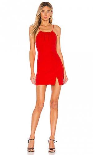 Мини платье с рюшами missy superdown. Цвет: красный