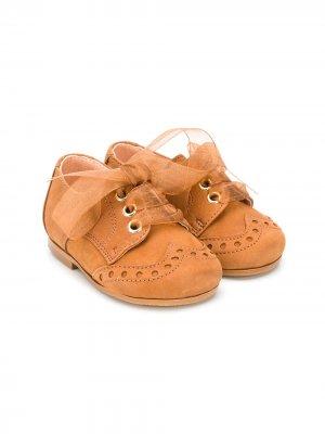 Пинетки на шнуровке CLARYS. Цвет: коричневый
