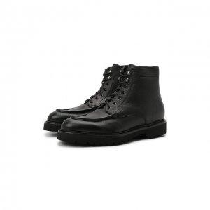 Кожаные ботинки Doucals Doucal's. Цвет: чёрный