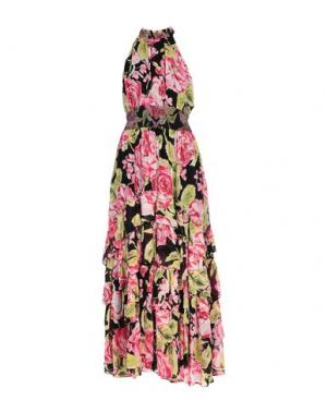 Длинное платье FREE PEOPLE. Цвет: фуксия