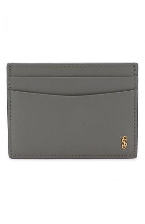 Кожаный футляр для кредитных карт Serapian. Цвет: серый