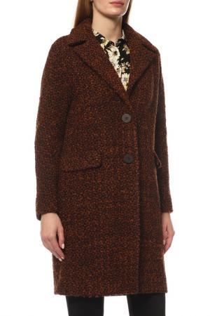 Пальто Disetta. Цвет: коричневый