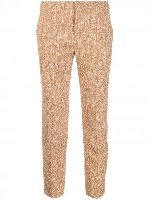 Классические брюки капри Chloé. Цвет: коричневый