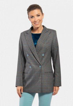 Пиджак Vladi Collection. Цвет: серый