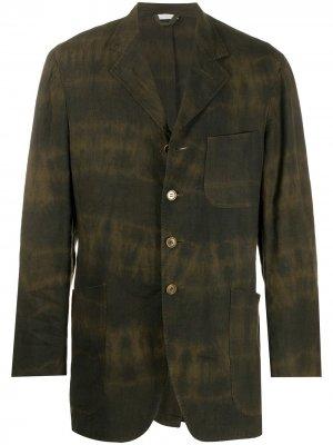 Легкий пиджак 1990-х годов с эффектом деграде Romeo Gigli Pre-Owned. Цвет: зеленый