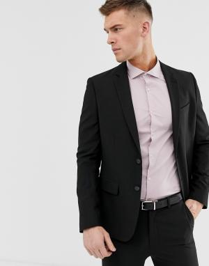 Черный пиджак скинни New Look