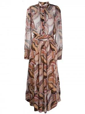 Полупрозрачное платье на пуговицах Ba&Sh. Цвет: нейтральные цвета