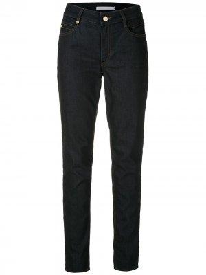 Прямые джинсы средней посадки BOSS. Цвет: синий