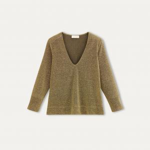 Пуловер MAUI MOMONI. Цвет: золотистый