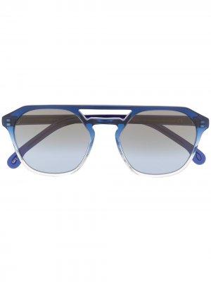 Солнцезащитные очки-авиаторы Archer Paul Smith. Цвет: синий