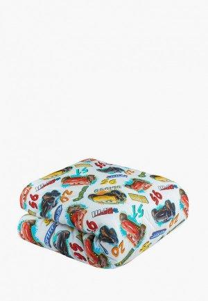 Одеяло детское Непоседа 140х205 Тачки. Цвет: белый