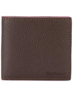 Складной бумажник Barbour. Цвет: коричневый