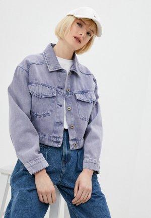 Куртка джинсовая Befree. Цвет: фиолетовый