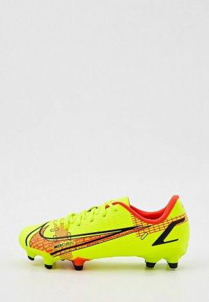 Бутсы Nike JR VAPOR 14 ACADEMY FG/MG. Цвет: зеленый
