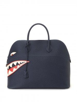Сумка-тоут Bolide 45 Shark pre-owned Hermès. Цвет: синий