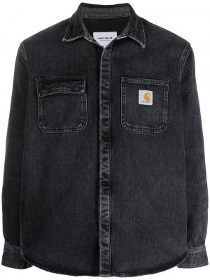 Джинсовая куртка с накладными карманами Carhartt WIP. Цвет: черный