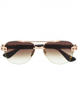 Солнцезащитные очки-авиаторы Grand-Evo Two Dita Eyewear. Цвет: коричневый