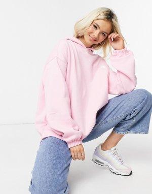 Oversized-худи с вышивкой инь и ян от комплекта -Розовый Daisy Street