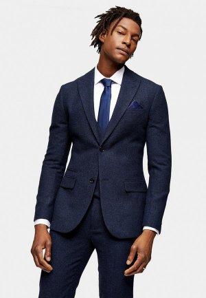 Пиджак Topman. Цвет: синий