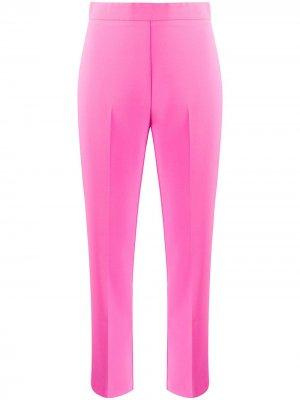 Укороченные брюки с завышенной талией Pinko. Цвет: розовый