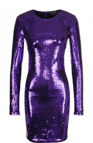 Платье с пайетками Tom Ford. Цвет: фиолетовый