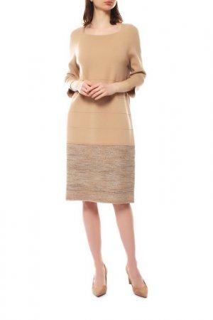 Платье D.Exterior. Цвет: персиковый, букле