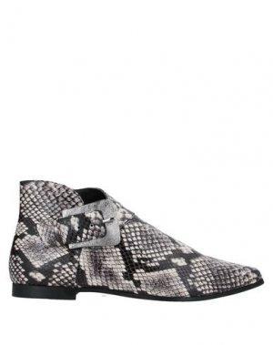 Полусапоги и высокие ботинки DIBRERA BY PAOLO ZANOLI. Цвет: серый