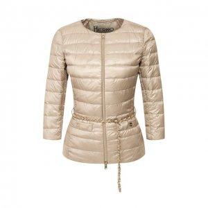 Пуховая куртка Herno. Цвет: бежевый