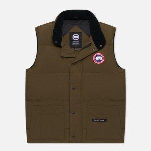 Мужской жилет Freestyle Crew Vest Canada Goose. Цвет: оливковый