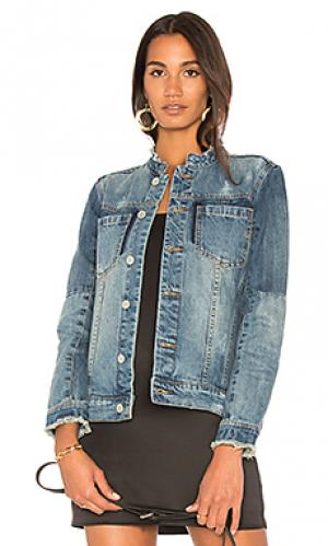 Джинсовая куртка без воротника BLANKNYC. Цвет: none