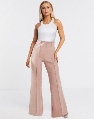 Светло-розовые брюки -Розовый цвет AQAQ