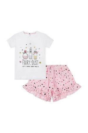 Пижама PlayToday. Цвет: белый, розовый