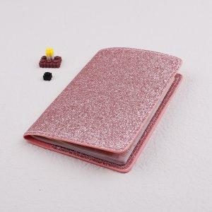 Блестящий чехол для паспорта SHEIN. Цвет: розовые
