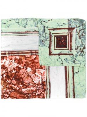 Платок с принтом Prada Pre-Owned. Цвет: зеленый
