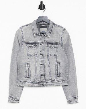 Серая джинсовая куртка -Серый Only