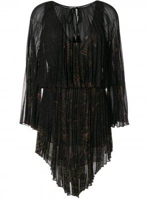 Двухслойное платье Camilla. Цвет: черный