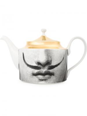 Заварочный чайник с принтом Fornasetti. Цвет: разноцветный