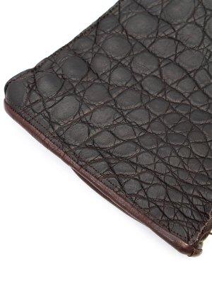 Перчатки из кожи каймана SCHIATTI. Цвет: коричневый