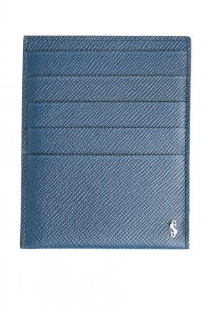 Чехол для карт синего цвета Serapian. Цвет: синий