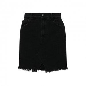 Джинсовая юбка J Brand. Цвет: чёрный