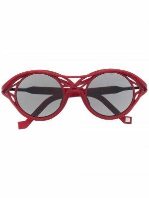 Солнцезащитные очки CL0015 в круглой оправе VAVA Eyewear. Цвет: красный