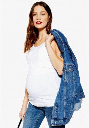 Майка Topshop Maternity. Цвет: белый